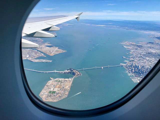 Nice view from the window in the plane