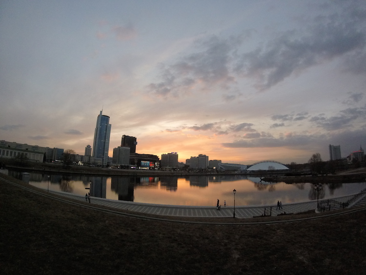 Sunset Minsk Belarus