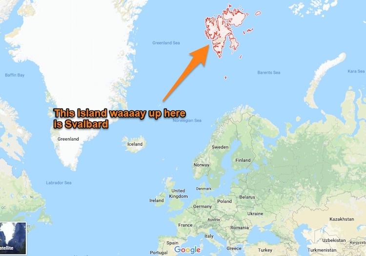 Svalbard location map