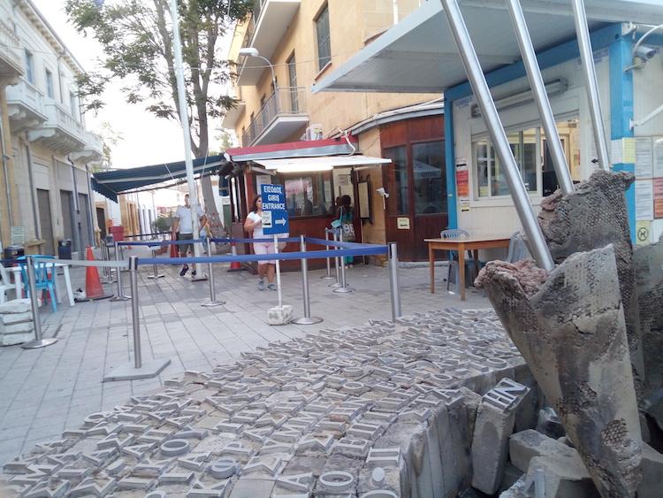 north south cyprus pedestrian border nicosia ledra street