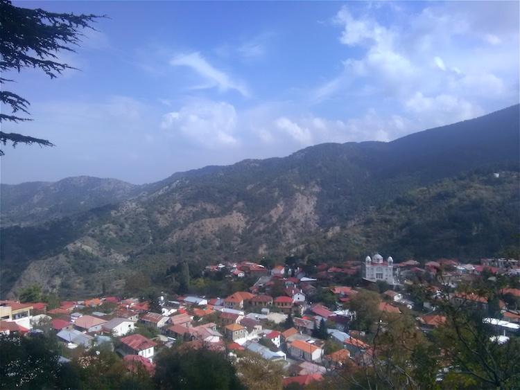 troodos mountains village cyprus
