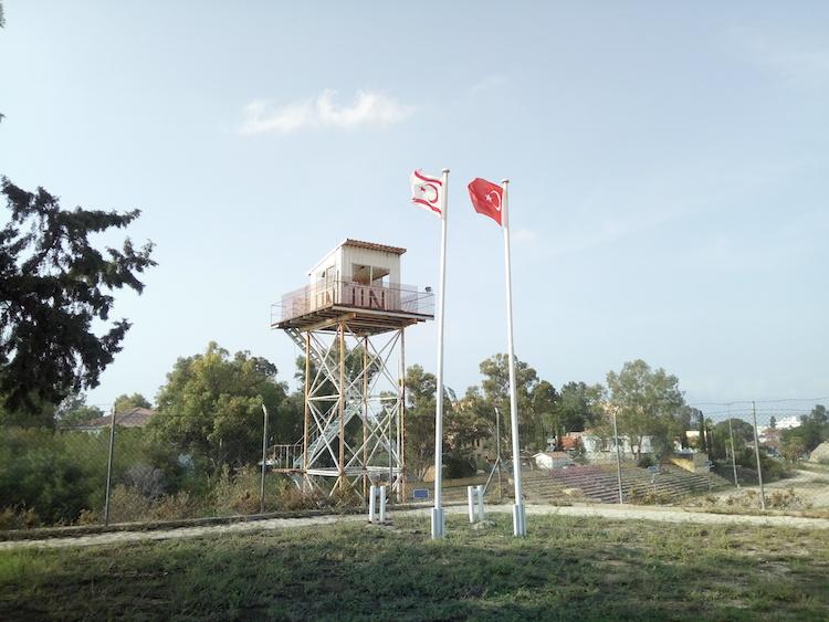 north south cyprus border UN buffer zone nicosia