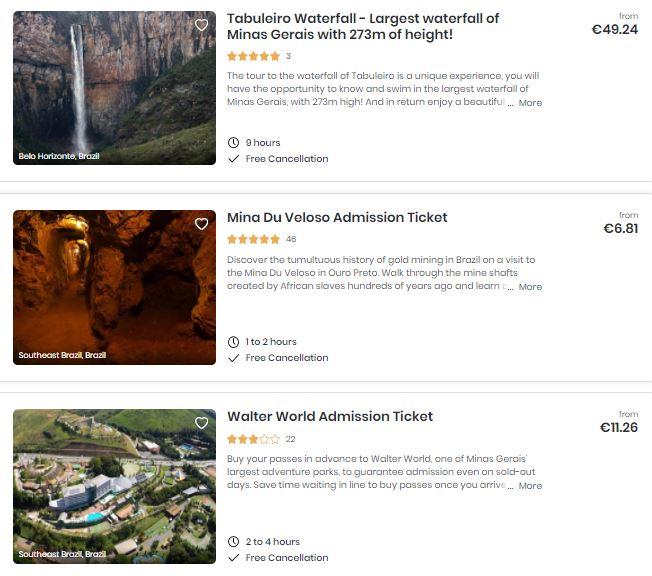 Best attractions in Minas Gerais