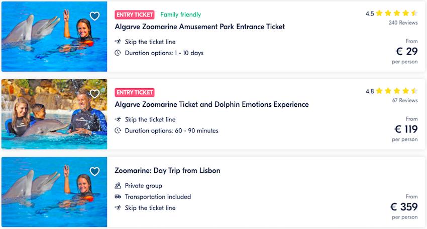 Zoomarine online tickets
