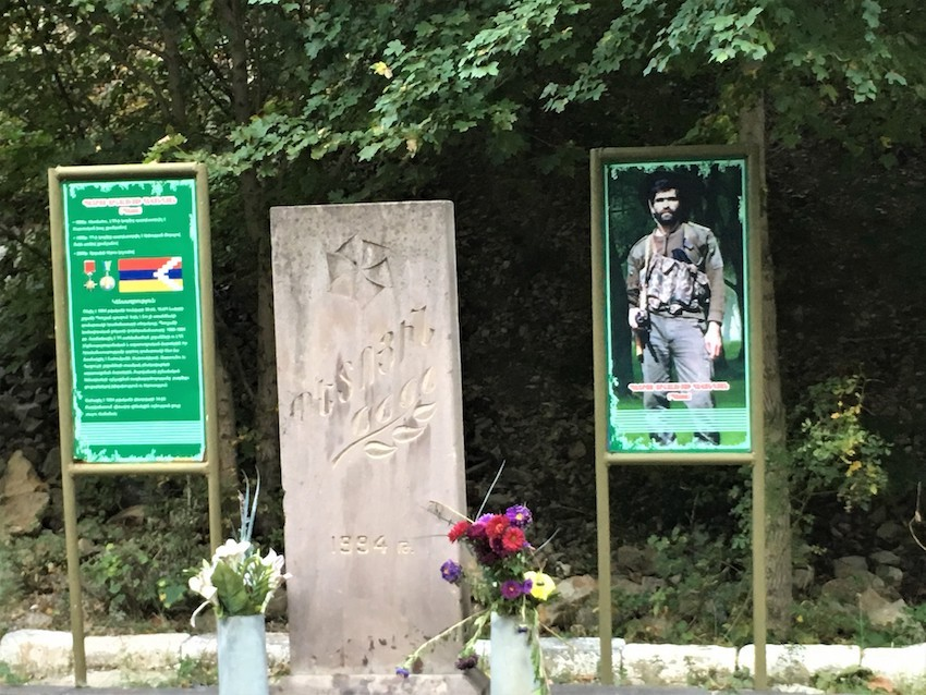 Monument to soldiers killed in the Nagorno-Karabach conflict