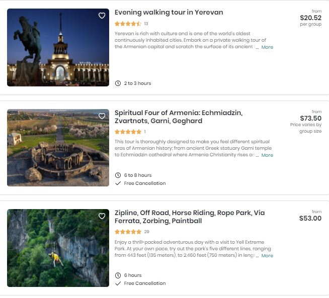 Best attractions in Armênia