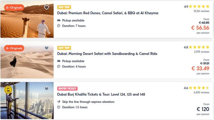 Where to find tours, attractions and activities in Dubai