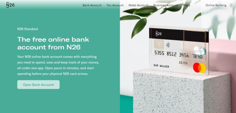 free online bank n26